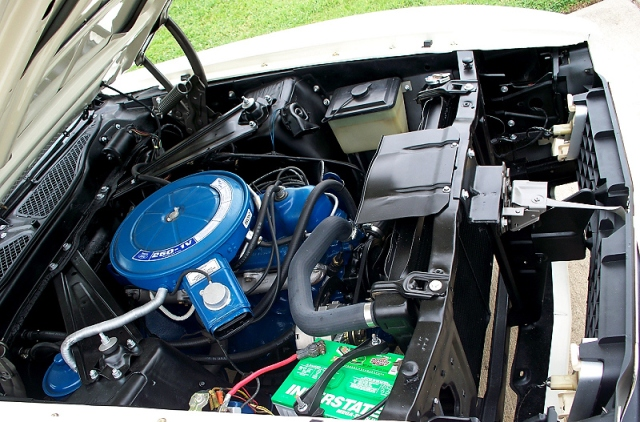 1973 Ford Mustang 250 six-cylinder engine